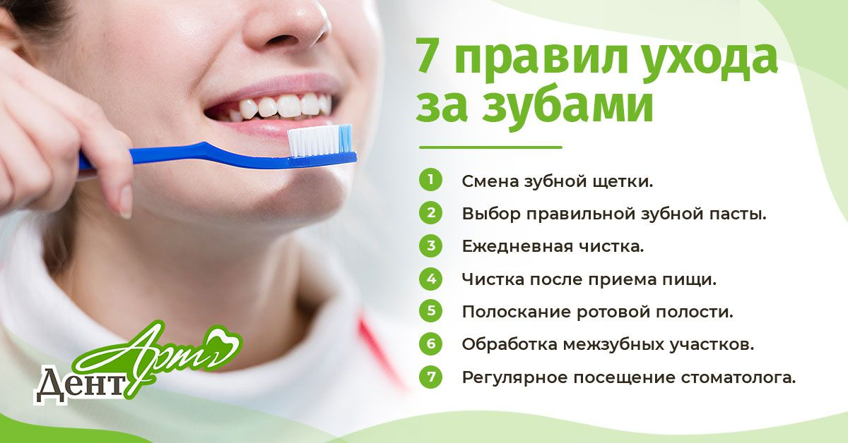 7 правил ухода за зубами