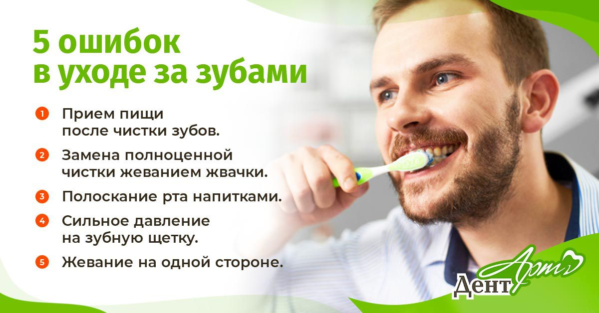 5 ошибок в уходе за зубами