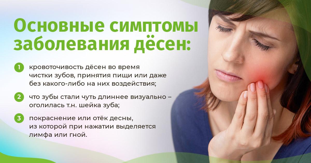 Заболевания дёсен: основные симптомы