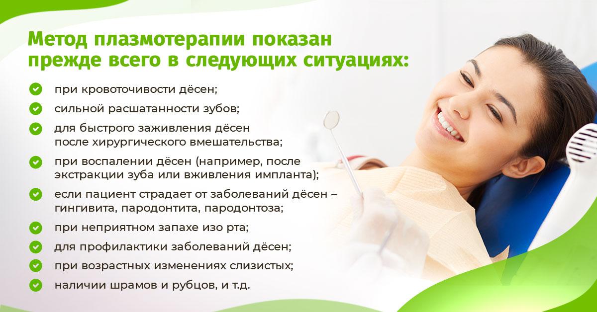 Метод плазмотерапии показан прежде всего в следующих ситуациях: