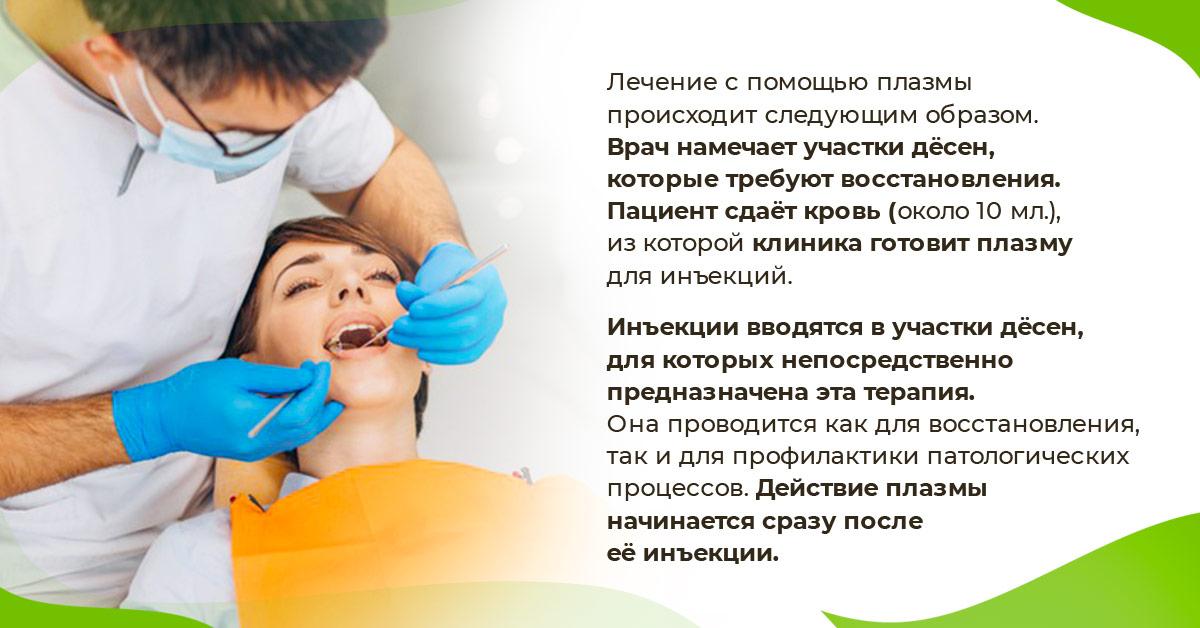Лечение с помощью плазмы происходит следующим образом.