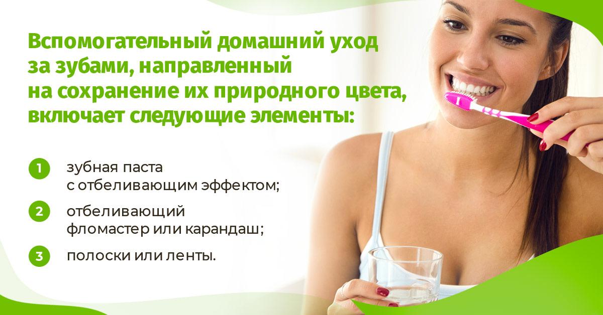 Вспомогательный домашний уход за зубами